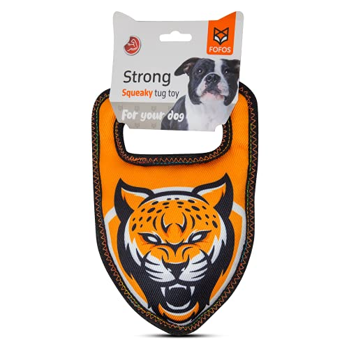 Barkbutler Strong Leopard Stuffed Squeaky Dog Toy