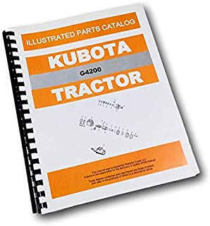 Kubota G4200 Tractor Parts Assembly Manual Catalog Exploded Views Numbers
