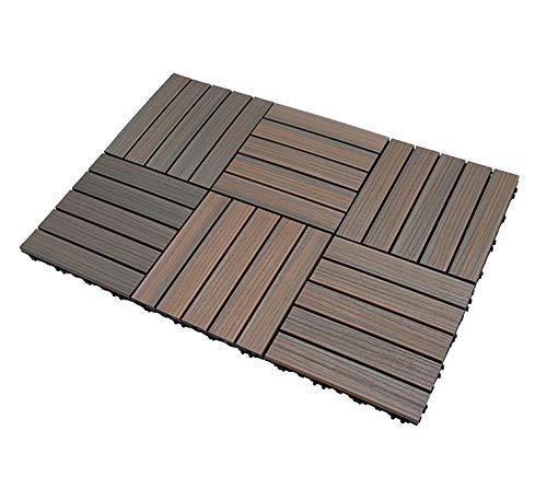 SORARA - tuiles de terrasse | 30 x 30 cm | Marron | Dalles pour Jardin et Terrasse