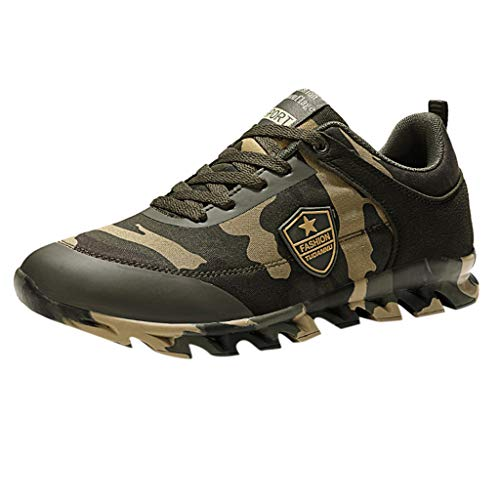 Luckycat Herren Fitnessschuhe Wanderschuhe Trekking Sneaker Camouflage Walking Flache Sportschuhe