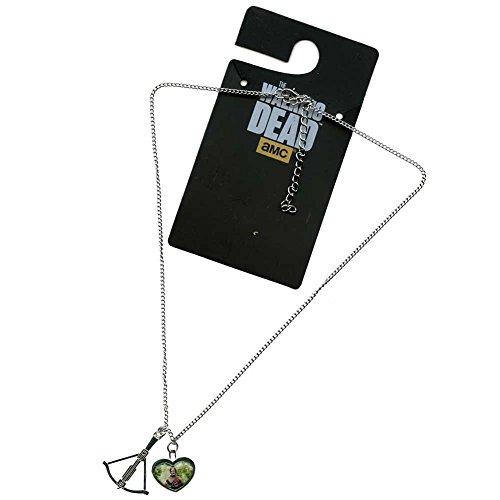 Walking Dead Daryl Dixon Antique Charm Collana