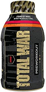 Redcon1 - Total War RTD Ready to Drink, 12 Pack, Great Tasting, On The Go, Caffeine, Beta-Alanine, Fast Energy (Strawberry Mango)