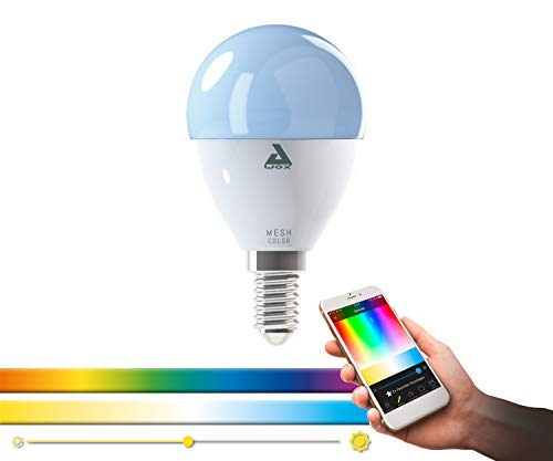 EGLO connect E14 LED Leuchtmittel P50, Smart Home Glühbirne, 5 Watt (entspricht 38 Watt), 400 lm, 1700K-6500K, dimmbar, Weißtöne und Farben einstellbar