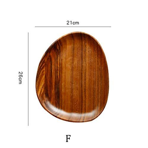 Hele hout liefdesverdriet hout onregelmatige ovale massief houten pan plaat fruitschaal schotel theeblad dessert eettafel servies set, F.