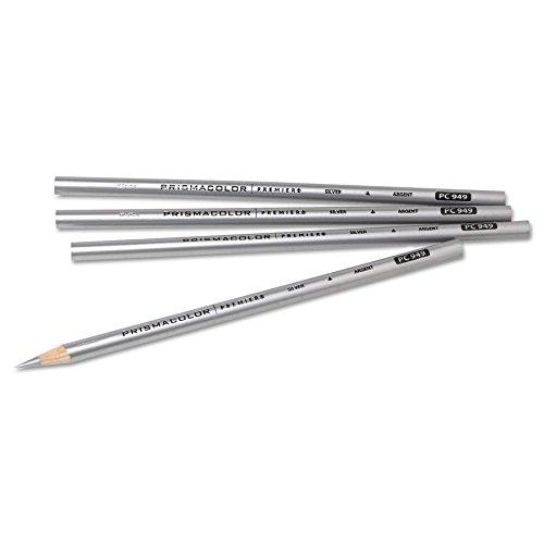 Prismacolor 03375 Thick Lead Art Pencil Silver Lead/Barrel Dozen -  SANFORD, SAN03375