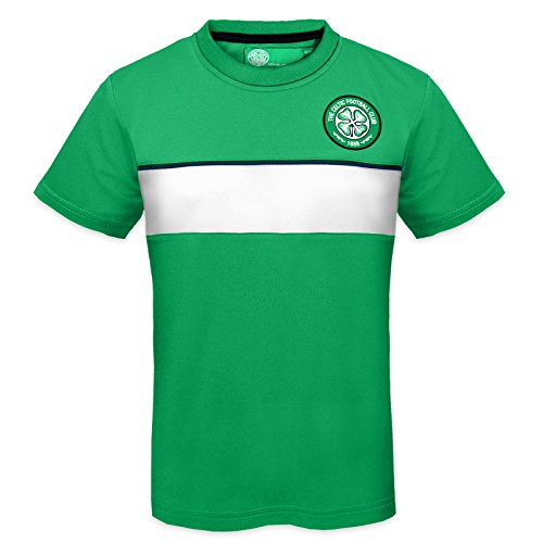 Celtic FC Official Gift Boys Poly Training Kit T-Shirt Green 8-9 Years MB