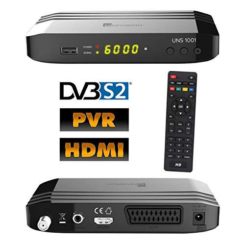 Univision UNS1001PVR digital Satelliten Sat Receiver (HDTV, DVB-S/S2, HDMI, Scart, Display, USB 2.0, EPG, Full HD 1080p, PVR Aufnahmefunktion)[vorprogrammiert für Astra Hotbird] - schwarz