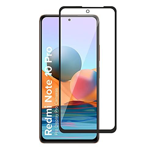 POPIO Tempered Glass Screen Protector Compatible for Xiaomi Redmi Note 10 Pro/Note 10 Pro Max/Poco F3 / Redmi K40 / Redmi K40 Pro (Black) with Edge to Edge Coverage and Easy Installation kit (1)