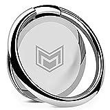 Ggmoca Phone Ring Holder Finger Kickstand, 360 Rotation Metal Ring Phone Grip Holder Stand for Magnetic Car Mount Compatible with All Smartphones-Sliver