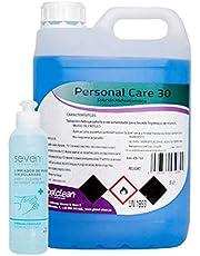 Garrafa 5 Litros Líquido Hidroalcohol para Manos Formato Ahorro + 245ml. Extra Líquido Hidroalcohol en Botella Rellenable (Total 5.245 ml)