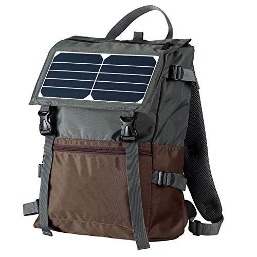 Nouveau sac à dos Solar Drawstring avec prise USB,Chargeur de panneau solaire 5W avec batterie rechargeable de 2000mAh,Sac à dos d'affaires décontracté Sac à dos scolaire Sac à dos de voyage,Gris