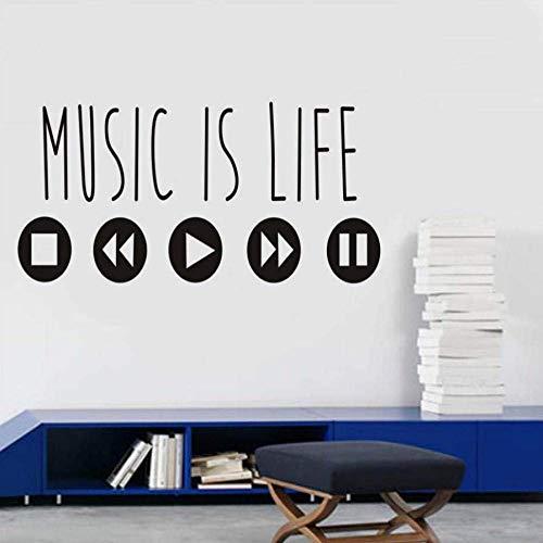 JQSM The Popular Minimalist Music is The Living Vinilos Decorativos Arte Pegatinas Música Decoración del hogar Pegatinas de Pared...