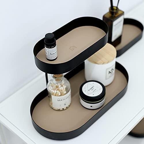 asx akcesoria łazienkowe czarny stojak na ciasto 1 sztuka metalowe stojaki do przechowywania zastawa stołowa dostawa do domu dekoracja 2 warstwy łazienka zestaw twardych naczyń (kolor: 2 warstwy)