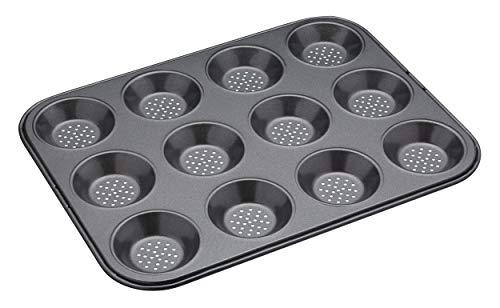 KitchenCraft KCMCCB29 Crusty Bake nieprzywierająca blacha do pieczenia tortów, stalowa, szara, 24 x 32 x 1 cm