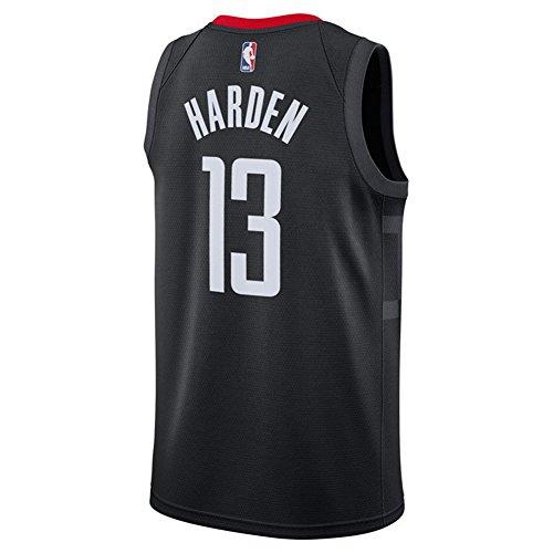 Camiseta sin mangas de Rockets para hombre, color blanco y negro, 17/18, de Harden, hombre, negro, Large
