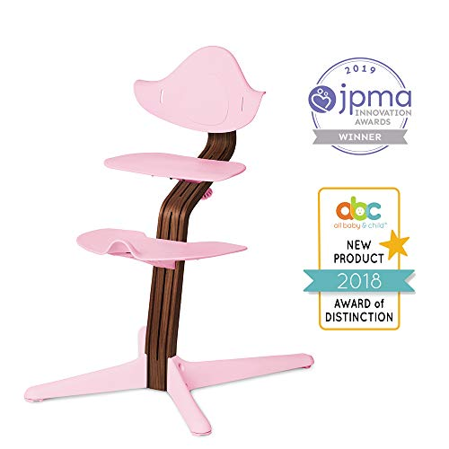 Nomi-Stuhl, Schwarzes Eichenholz, für Kleinkind bis Teenager und darüber hinaus mit nahtloser Verstellbarkeit, besser als ein Esszimmer-Sitz, Cure for Fidgeting, modernes Design, starker Holzstiel.