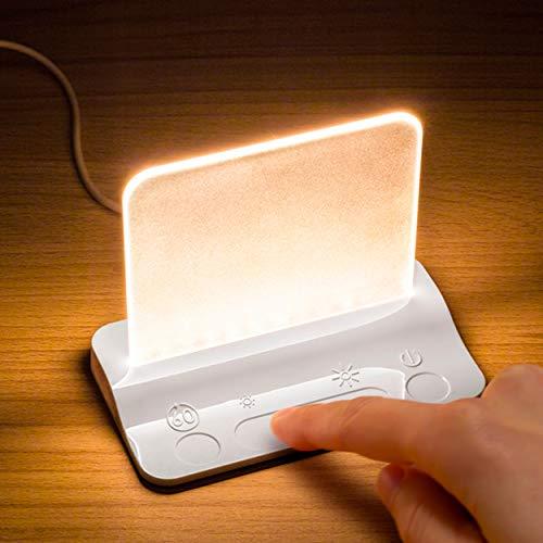 Integral LED ILTL-WH Integral Touch Glow Lampe LED de Chevet Avec Variateur Tactile d'Intensité pour Bébé, Nourrison, Enfant, Garderie, Chambre, Bureau, Blanc, Plastique, 2 W, 12x90 mm
