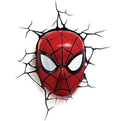 3DLightFX 816733002224 Marvel Spiderman Mask 3D Deco Light,Red from Japan VideoGames
