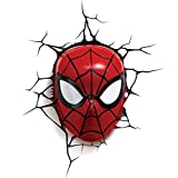 Marvel Light FX Applique Murale LED Décoration Spiderman 3D, 816733002224, Red