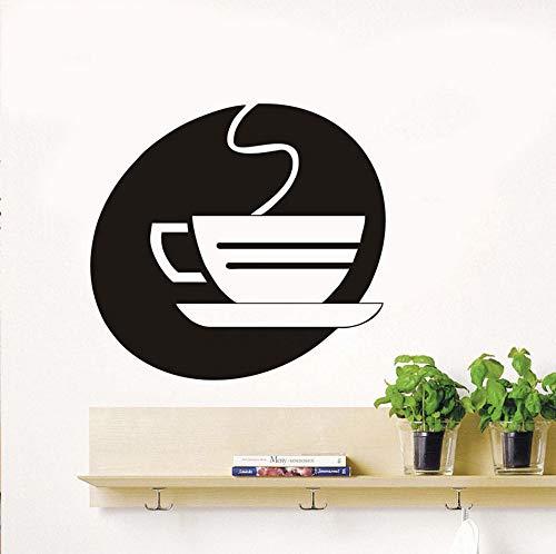 Dalxsh Küche Wandaufkleber Büro DekorativeAushöhlen Dämpfende Teetasse WandaufkleberKlebstoffWohnkulturTafel62x58 cm