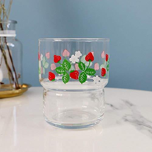 LJK Milchshake-Becher mit Erdbeer-Motiv multi