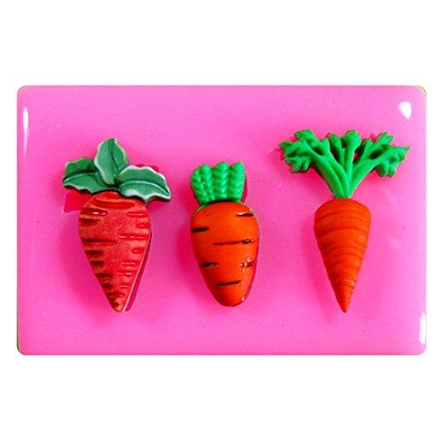 Varias zanahorias pequeñas Molde silicona torta Decoración