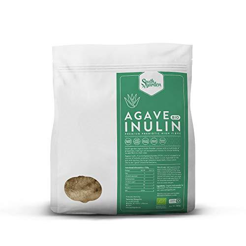 Inuline d'Agave BIO en Poudre 500 g | SOUTH GARDEN | Prébiotique | Fibres alimentaires | Végan | Sans Gluten ni Sucre