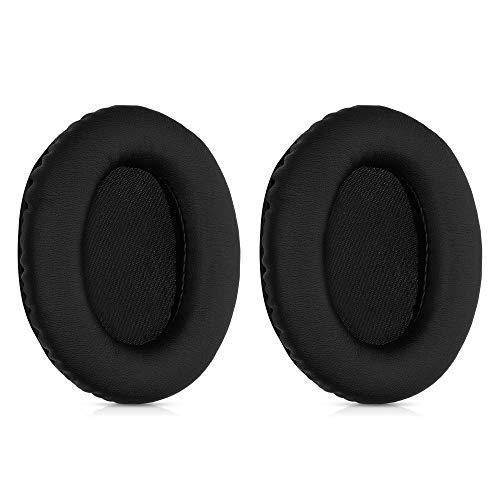 kwmobile 2X Almohadillas compatibles con Kingston HyperX Cloud II - Almohadilla de Repuesto de Cuero sintético para Cascos Auriculares