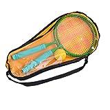 PRETYZOOM Bádminton Raquetas de Mango Largo Raqueta de Tenis Y Pelotas de Los Niños Aire Libre Raqueta Juego con Bolsa de 8 a 12 Años de Edad Los Niños