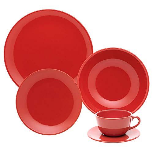 Aparelho de Jantar e Chá 20 peças INNI RED AMA2-5504.