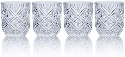 Mikasa Claremont Double Old Fashioned Glasses Set of 4 Fine Crystal product image