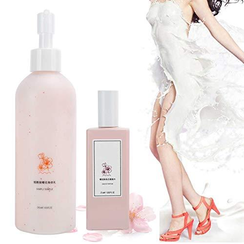 Body Lotion Parfüm, schnell einziehende Body Moisturizer Lotion Moisturizing Nourishing Body Lotion Erfrischendes Blumenfrucht-Parfüm-Set (250 ml + 25 ml)