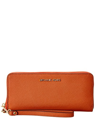 Michael Kors Jet Set Travel 32H4GTVE9L orange Damen Portemonnaie Clutch Geldbörse Smartphone-Hülle