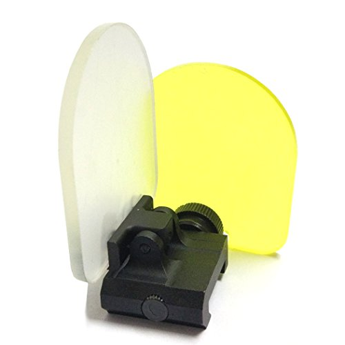QMFIVE Cubierta de Lente Alcance táctico, Airsoft Pantalla Protector Alcance Plegable Reflex Lente de 20mm Alcance de QD Montaje para Red Dot Sight