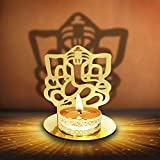 Lord Ganesha (Ridhi Shidhi) Diwali Shadow Diya. Deepawali Traditional Decorative Diya in Lord Ganesha Shape for Home/Office.Religious Tea Light Candle Holder Stand. Diwali Decoration Indian Gift items
