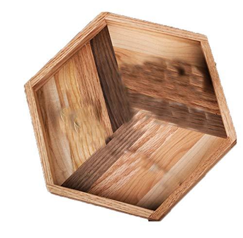 Afternoon Tea Snack Tray Oak Black Walnut Cherry Wood Planken Creatieve Ontwerp van het Mozaïek Tea Plate fruitschaal 24 * 27.5cm