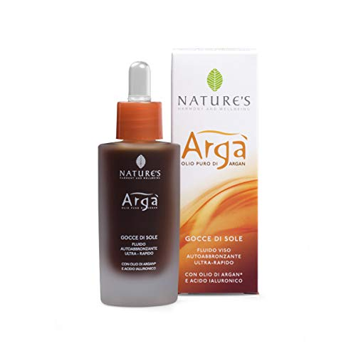 Nature's Argà Sunlight Drops Self Tanning Lotion, mit Arganöl & Hyaluron, 30ml