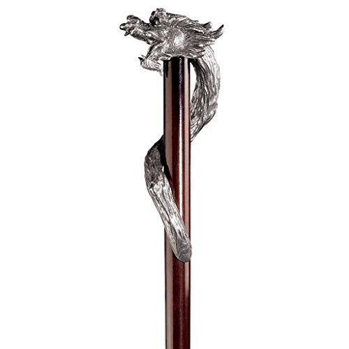 Design Toscano PA1099 Walking_Stick, Gris, 2.5x10x89 cm ⭐