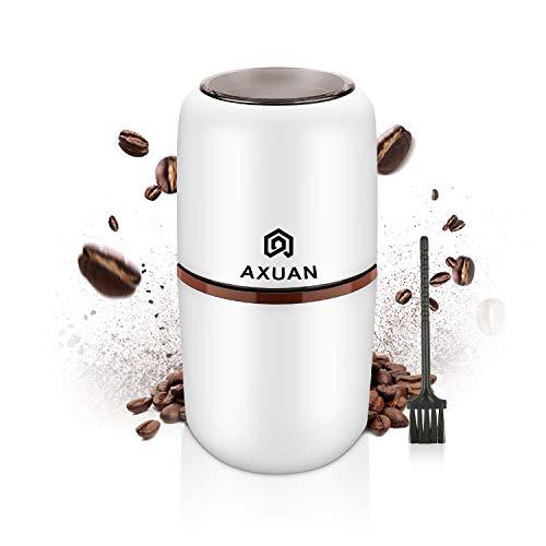 Macinacaffè elettrico, Macinacaffè elettrico, Macina fagioli, noci e cereali con lame in acciaio inossidabile 304, motore potente da 30000 giri/min, capacità 120 g, 150W con spazzola per la pulizia