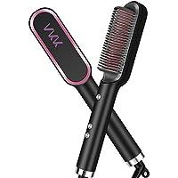 VKK Cepillo Alisador de Pelo | Calentamiento ultrarápido en 30s | Peina, plancha, alisa y da forma al cabello | Anti-quemaduras| 5 temperaturas regulable140º-200º.