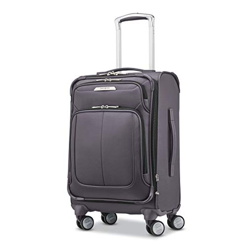 Samsonite Solyte DLX Softside Expandable Luggage with Spinner Wheels, Mineral Grey, Carry-On 20-Inch
