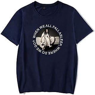 PAND Billie Eilish T Shirt Harajuku Casual Women Short Sleeves Streetwear Hip Hop Mens T-Shirt Cotton Soft Billie Eilish Tshirt