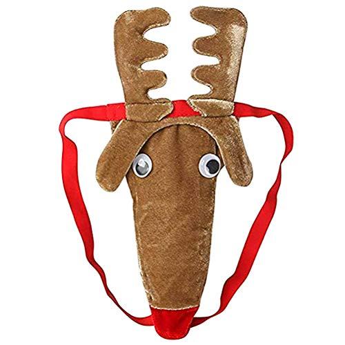 Thong,Mens Christmas Costume Reindeer Elk Mens G-Strings Thong Underwear T-Back Boyfriend gift Valentine Gift Mens Underwear