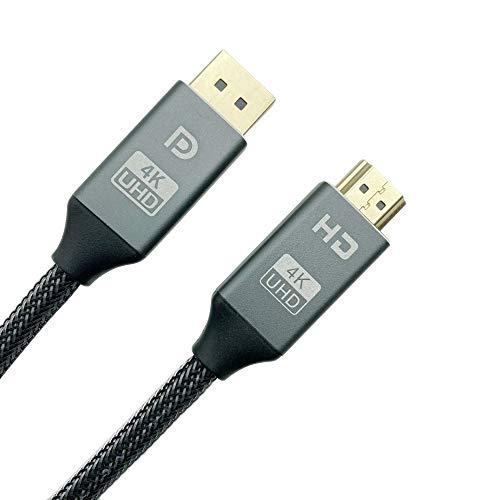 LIAWEI Cable DisplayPort a HDMI, DP (puerto de pantalla) macho a HDMI hembra Cable compatible con MacBook Air/Pro, iMac, Microsoft Surface Pro/Laptop, ThinkPad Helix, monitor, proyector, más