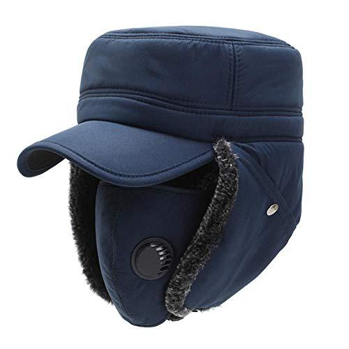 Sombrero de cazador cálido unisex con orejeras Sombrero de bombardero Gorra de béisbol de soldado a prueba de viento para hombre Ciclismo al aire libre Nieve Esquí Snowboard Sombrero Sombreros