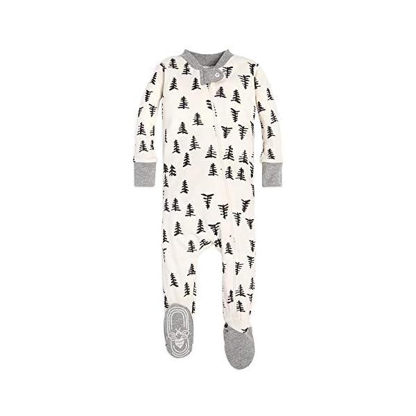 Burt's Bees Baby Baby Girls' 1-Pack Unisex Pajamas, Zip-Front Non-Slip Footed Sleeper Pjs, Organic Cotton