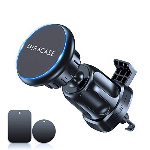 2021 Upgraded Miracase Magnetic Phone Car Mount2nd GenerationStrong MagnetsampClip Hands Free Cell Phone Holder for Car Universal Air Vent Car Phone Holder Mount for All Cell Phones