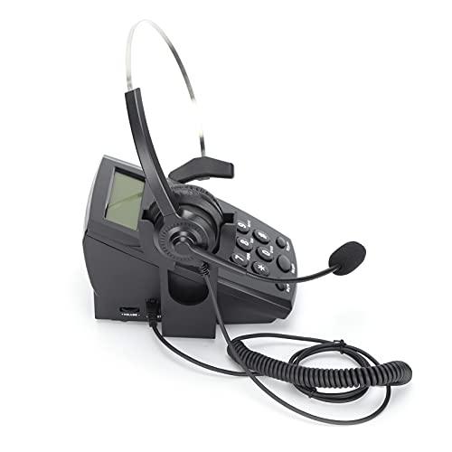 T opiky Auriculares para teléfono,Auriculares de Centro de Llamadas comerciales con Cable de 2,5mm,Manos Libres con micrófono con cancelación de Ruido y Control de Volumen para teléfono de Escritorio