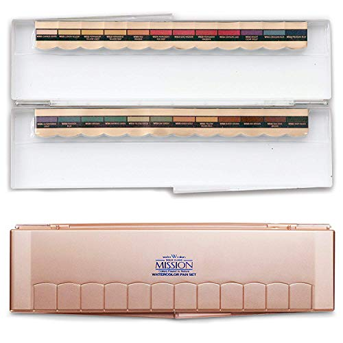 Mijello Mission Gold Class PANS Watercolors 24 Colors with Palette Set
