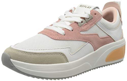 Replay Damen Flow - Lynda Sneaker, Pink (White Pink 77), 39 EU